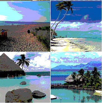 South Pacific collage
