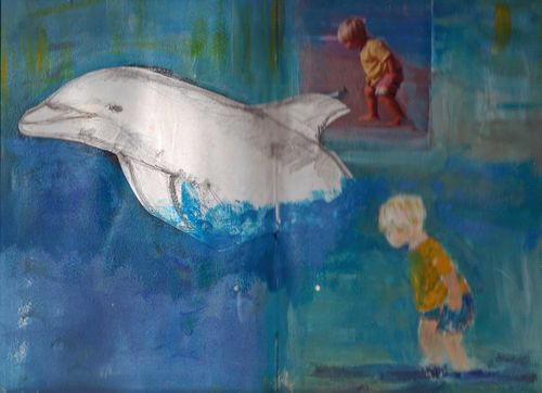 Dolphin and boy