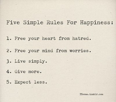 Five-rules-for-being-happy-forever